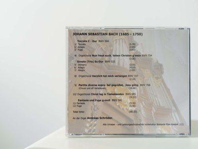 CD-Bach - Orgel der Peterskirche - Rückseite